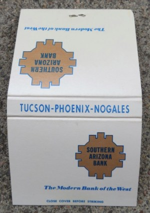 Matchbooks for Southern Arizona Bank