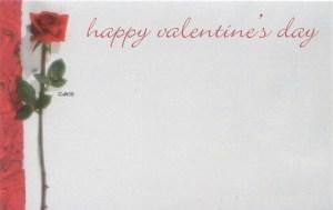 Happy Valentine's Day - red rose