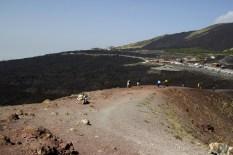 Il sentiero intorno al cratere