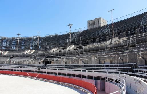 Gli spalti dell'arena.
