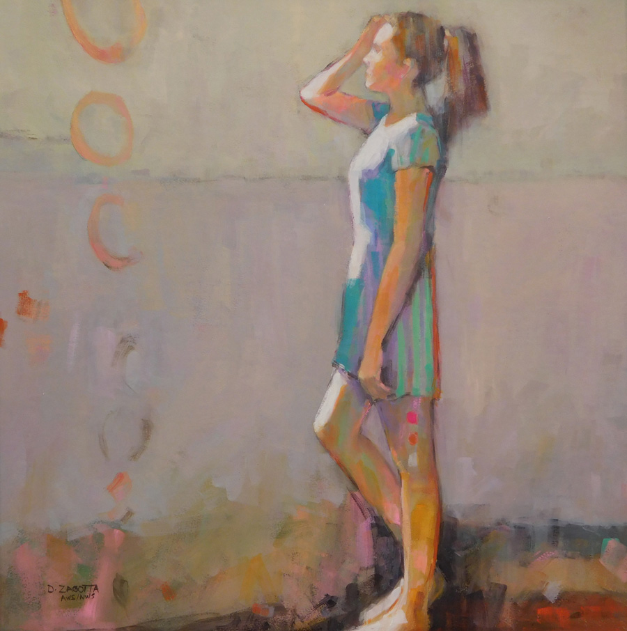 Donna Zagotta semi- abstract figurative paintingss