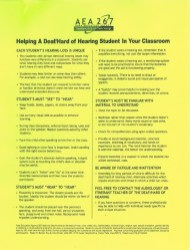 Differentiation - Having a student with hearing loss in the classroom.