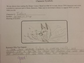 Another great student example--going beyond the obvious.