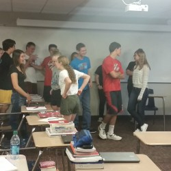 The Scarlet Letter Intro: post-it notes with 'ostracized' or 'community member.'