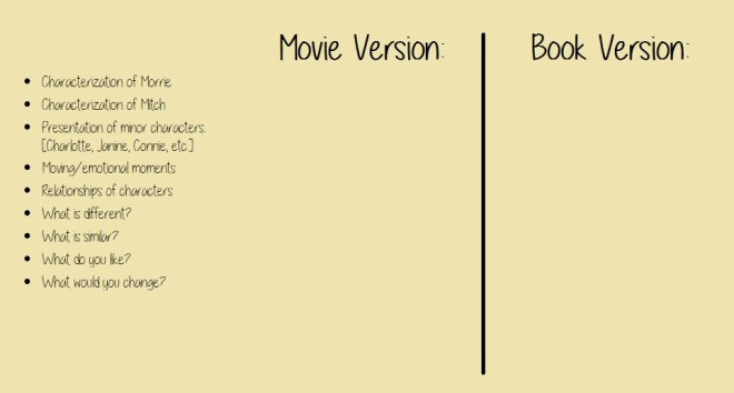 TWM movie vs book