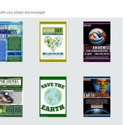Poster options for their Wolves Project.