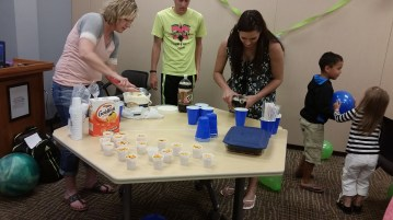 Having a celebration for the two boys our class tutored all semester.