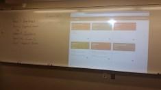Showing parents the Google Classroom sites
