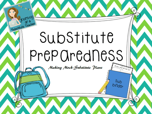 When I had a doctor's appointment, I created mock substitute plans for my cooperating teachers so they would know my expectations for the day!