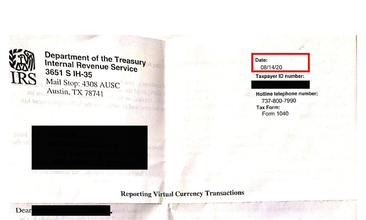 CRYPTO TAX ALERT: IRS Starts Sending New Virtual Currency Education Letters