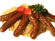 The Nürnberger Rostbratwurst.