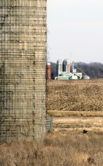 Silo and distant farm, Spring Lake Park Hastings