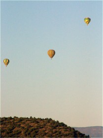 Hot air Balloons over Sedona, 3.18