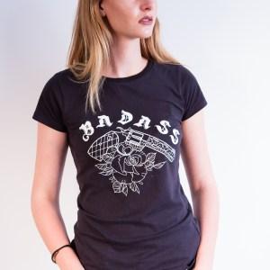 T-Shirt Femme Badass Noir