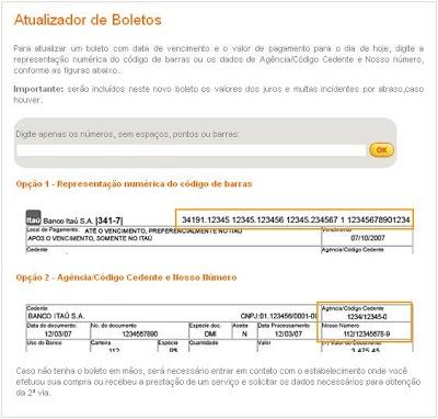 Atualizador 252520de 252520Boletos Atualizador de Boletos ITAÚ