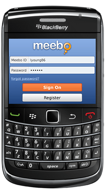 BlackBerry Meebo para BlackBerry