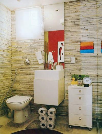 banheiros pequenos galeria imagens 04 Modelos de Banheiros Decorados com Pedras