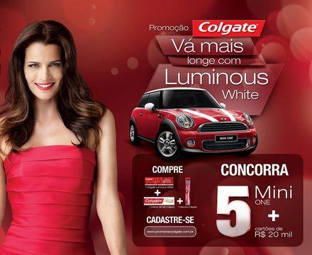 Promoção Colgate Luminous White Promoção Colgate Luminous White