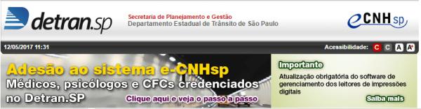 Aderir ao sistema e-CNHsp - Detran-SP