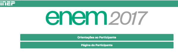 Comprovante do Enem 2107 só na Pagina do Participante online