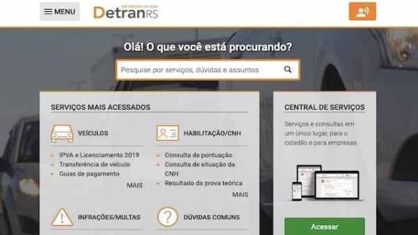 Detran RS Consultar Pontos CNH