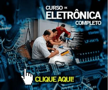 curso de eletrônica, video aula. Video de aula em curso de eletrônica. Curso de Eletrônica em pdf. Material didático para curso de eletrônica