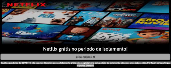 Netflix gratuita pra quem está em isolamento. Cadastro netflix grátis