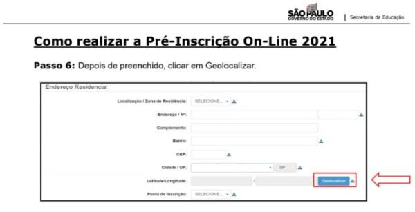 Captura de Tela 2021 03 25 às 11.19.14 Pré-Inscrição online 2021 para Matrícula Rede Pública de Ensino São Paulo