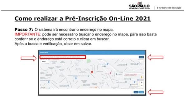 Captura de Tela 2021 03 25 às 11.19.31 Pré-Inscrição online 2021 para Matrícula Rede Pública de Ensino São Paulo