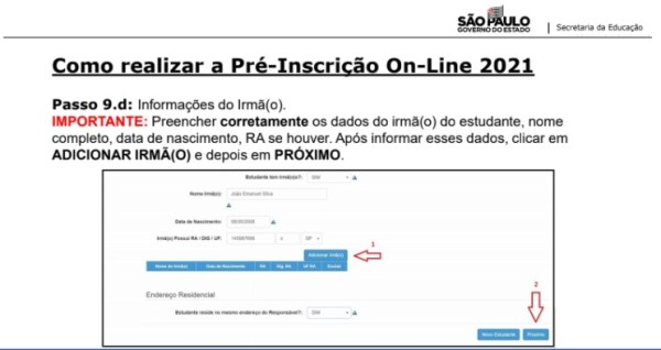 Captura de Tela 2021 03 25 às 11.21.23 Pré-Inscrição online 2021 para Matrícula Rede Pública de Ensino São Paulo