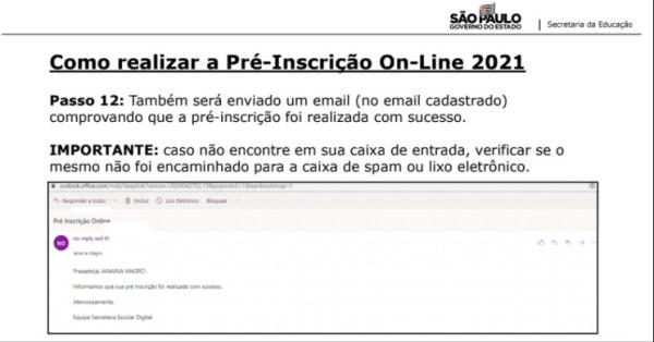 Captura de Tela 2021 03 25 às 11.22.31 Pré-Inscrição online 2021 para Matrícula Rede Pública de Ensino São Paulo