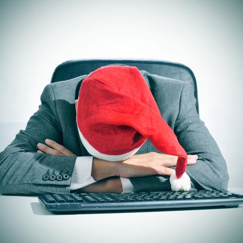 lazy salesman during the holiday season