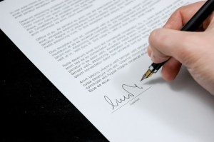 signing a non-compete agreement