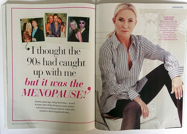 Meg Mathews (I thought the 90s had caught up with me' from The Smart Woman's Guide to the Menopause