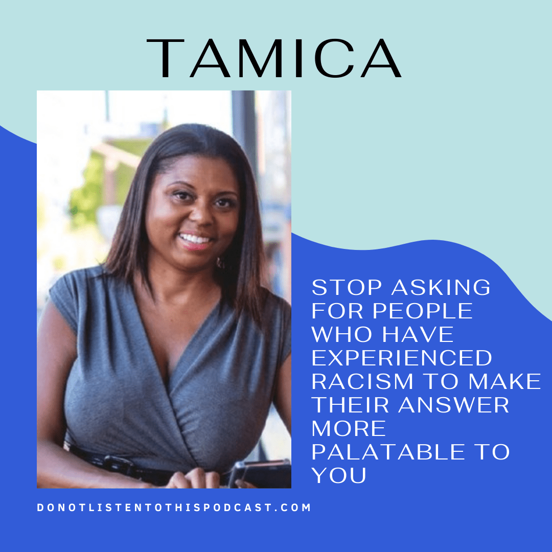 Tamica – Leaders can't avoid having tough conversations around race in the workplace