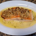 Broiled Salmon Oreganata