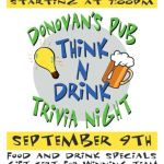 DONOVAN'S PUB Presents TRIVIA NIGHT Wednesday September 9th @ 7 PM!