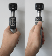 Adding buttons to the otoscope