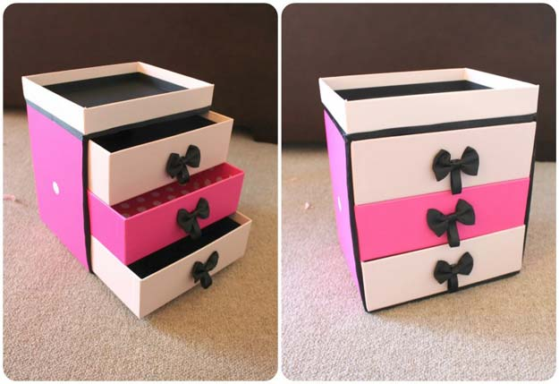 Diy Makeup Box Drawer Storage Containers