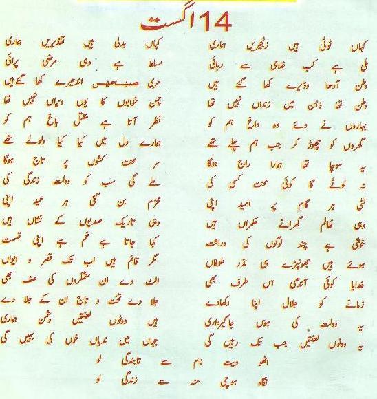 Speech Written In Urdu