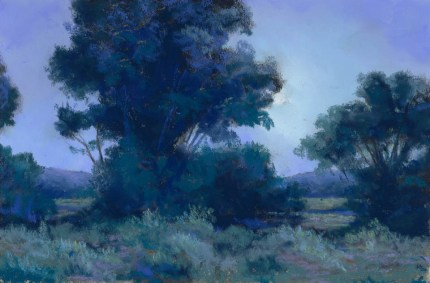 Blue and Green by Western pastel landscape artist Don Rantz