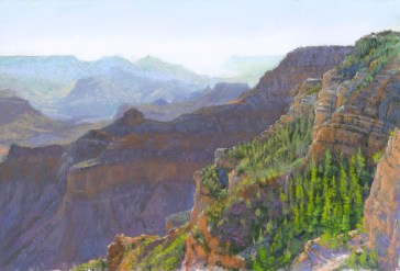 Grand Canyon 5 by Western pastel landscape artist Don Rantz