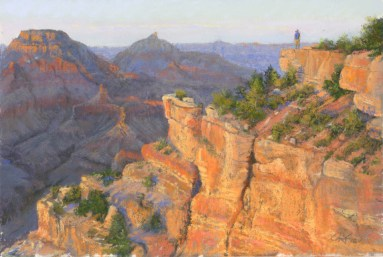 Grand Canyon 6 by Western pastel landscape artist Don Rantz