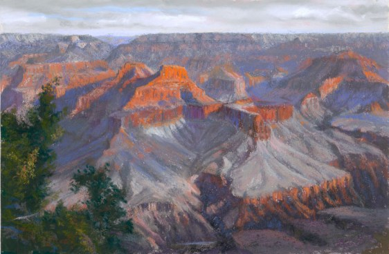 Grand Canyon 16 by Western pastel landscape artist Don Rantz
