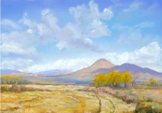 High Desert Autumn by Western pastel landscape artist Don Rantz
