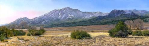 January Morning by Western pastel landscape artist Don Rantz