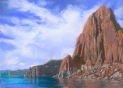 Lake Powell by Western pastel landscape artist Don Rantz