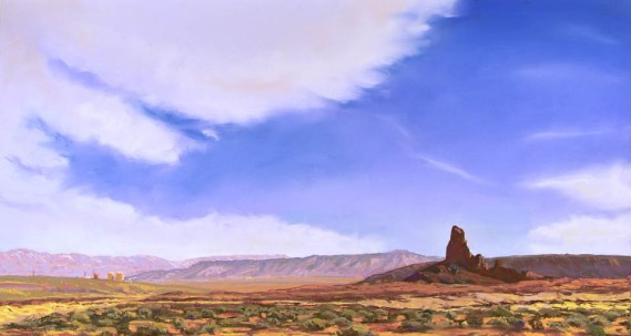 North Boundary Butte by Western pastel landscape artist Don Rantz