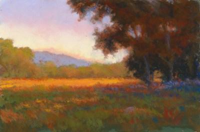 Orange and Blue by Western pastel landscape artist Don Rantz