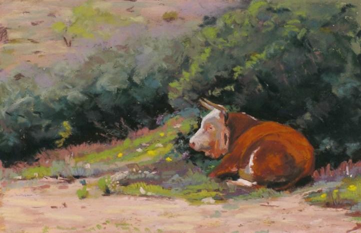 Shady Rest by Western pastel landscape artist Don Rantz